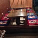 韓国家庭料理 家族 - 小上がり掘りごたつ席