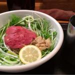 31198359 - 看板メニューの松阪牛麺