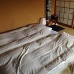 洛陽荘 - 2014年8月:部屋には最初から布団がひいてありました