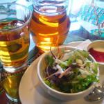 GOMBEI SPICE - ランチセットのサラダとデザート♪