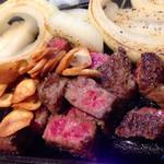 たるや鉄板焼 - 和牛サイコロ ステーキ