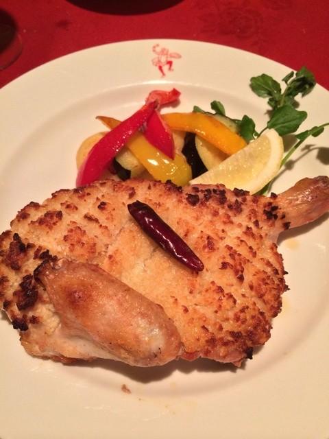 銀座イタリー亭 - 若鶏のガーリックオイル焼