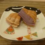 新割烹 丹色 - 自家製紫芋のアイス最中
