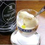 アイスクリームとペドロヒメネス