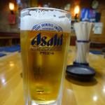 ホルモン心 - 生ビール(500円)