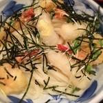 松山 力みなぎる完全無欠うどん 空太郎 - 自家製麺のぷっくりした食感もさることながら、ぶっかけ出汁の美味しさにビックリ。残った出汁もチビチビ完飲w