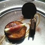 ケンゾーエステイトワイナリー - チョコレートのテリーヌとバルサミコロースト