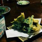 荻の源蔵そば - 天ぷら