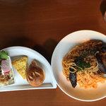 クオーコ タカハシ - パスタセット「ひき肉とナスのメランザーネパスタ」
