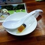 らぁめん夢 - 煮干し油の注射器!