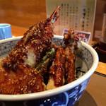 天ぷら 兎波 - 野菜味噌天丼