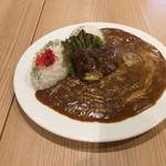 サーティカレー松原 - チキンカレー(えのき、キャベツ、チーズをトッピング。ライス+100g。5辛。)¥1782(税込)