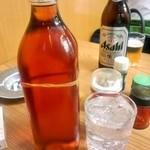 大串 - 焼酎(250円)と梅シロップ