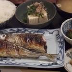 お食事処 明日香 - サンマ焼き定食