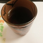 はり清 - 最後のお茶は焙じ茶。
