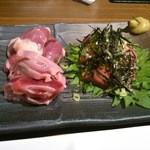 響 - 料理写真:鶏さしみ盛り合わせ