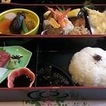 31243789 - ('14.09)松花堂弁当 2160円お味噌汁と茶碗蒸し付き