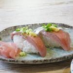 中華そば 四つ葉 - ゲキうま、秋刀魚のにぎり300円