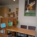 CAFÉ Kogetsudo - テーブル席でも店主さんとお話出来ます(笑)一人でまったりも出来ますにゃ~♪(´ー`)