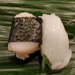 大天寿司 - 貝柱とモンゴウイカ