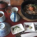 加西サービスエリア(下り線)レストラン - 兵庫 彩ご膳 1280円 黒田庄和牛、播磨のトマトのどんぶりモノです。