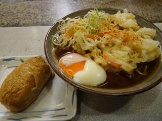 かめや - 2014.10:いなり寿司+天玉そば