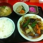 栄飯店 - 酢豚定食