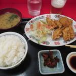 栄飯店 - 鶏天定食
