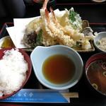 きらく亭 - 天ぷら定食