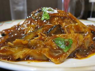 中国料理 旺子牛食府 - 茄子と豚肉の中国味噌あんかけご飯