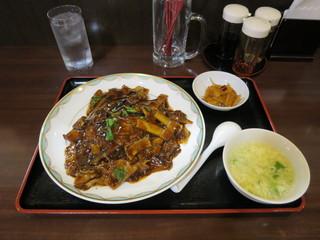 中国料理 旺子牛食府 - 茄子と豚肉の中国味噌あんかけご飯 680円  ※本日のサービス定食