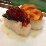 新寿司 - 握り:イクラと雲丹