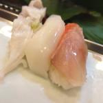 新寿司 - 金目、イカ、ゲソ