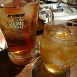 くすお - ウィスキーロックに烏龍茶
