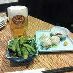 杏拾亭 - ビール、枝豆、自家製しゅうまい