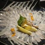魚菜家 - 珍しい「穴子のお造り」