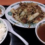 日高屋 - 野菜炒め定食 140927 23:47