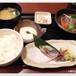 31257799 - 鰹のたたきと鰆西京焼き御膳