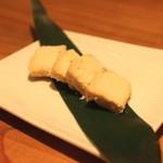 蕎麦 案山子 - 豆腐の味噌漬け (2014/09)