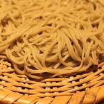 蕎麦 案山子 - ざる蕎麦のアップ (2014/09)