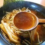 味楽 - 焼き醬油ラーメン 2014.10