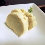 地鶏・豆腐料理 くろまめや - ゆばさしの玉子焼き。