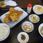 中華料理福泉餃子 - 唐揚げ定食