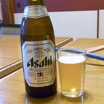 かに八 - ドリンク写真:ビールは瓶のみ ¥450くらい?