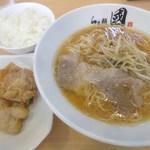 らぁ麺 國 - ランチセット(コウネ醤油ラーメン)
