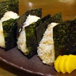 居酒屋 田中 - おにぎり(天かす・鮭・山菜・梅) 各200円