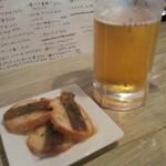 31289477 - マグロのピンチョスと生ビール