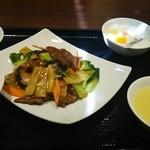 31290697 - ランチ  牛肉のオイスターソース炒め1080円税込み