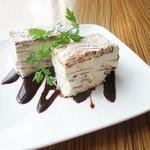アネア カフェ - クリームチーズとチョコレートのセミフレッド〜イタリアンアイスケーキ〜