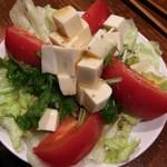 情熱串焼き 小池屋 - 豆腐サラダ 2014.10